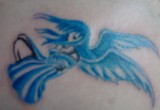 Blaue engel tattoo motive