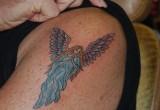 Engel tattoo unterarm