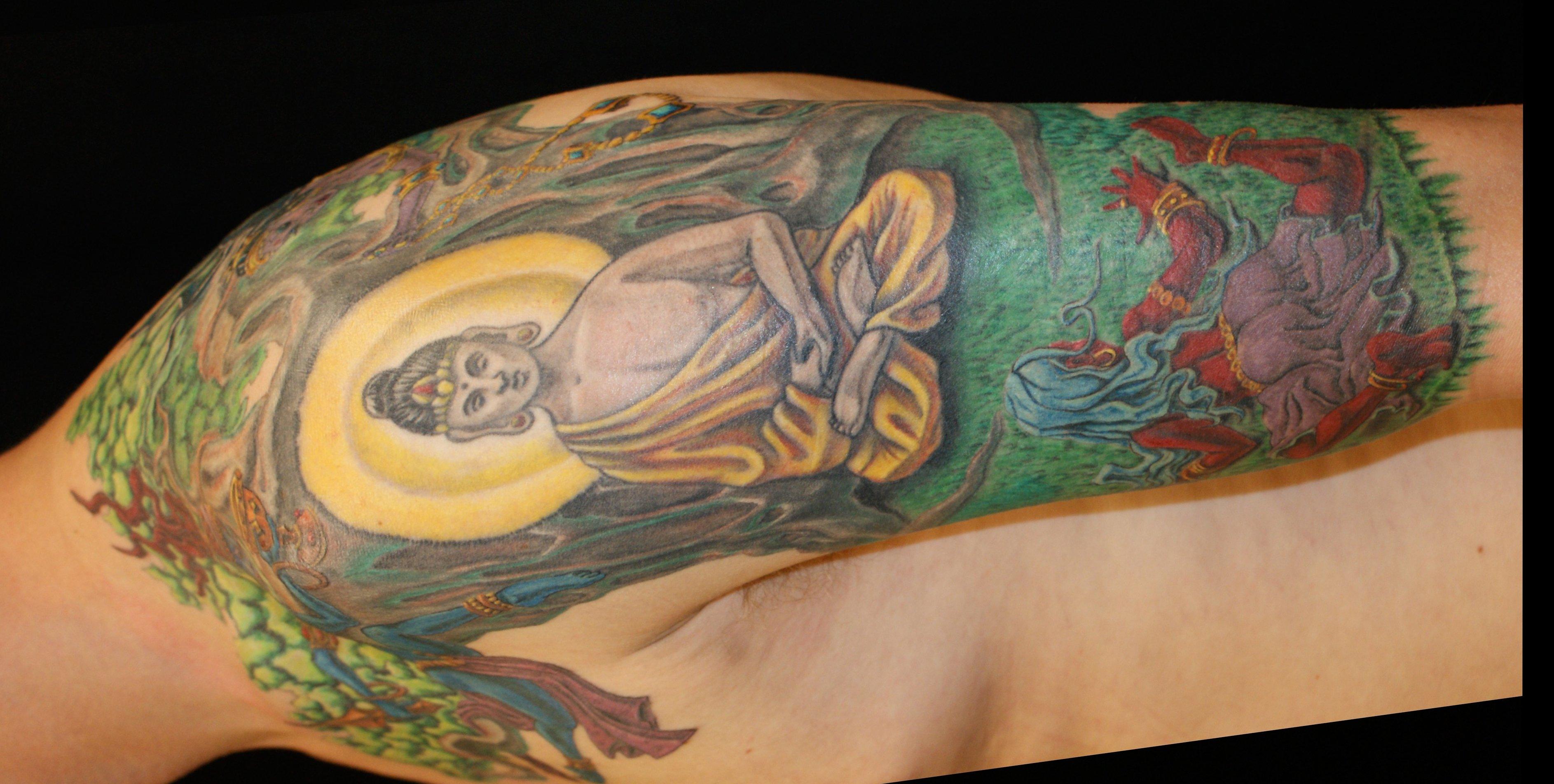 Buddhistische Tattoos und ihre Bedeutung alletattoo.de 1