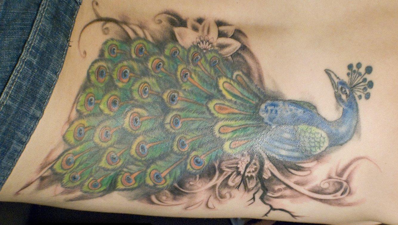 Pfau Tattoo Motive und Pfauenfeder Tattoo Bedeutung alletattoo.de 4