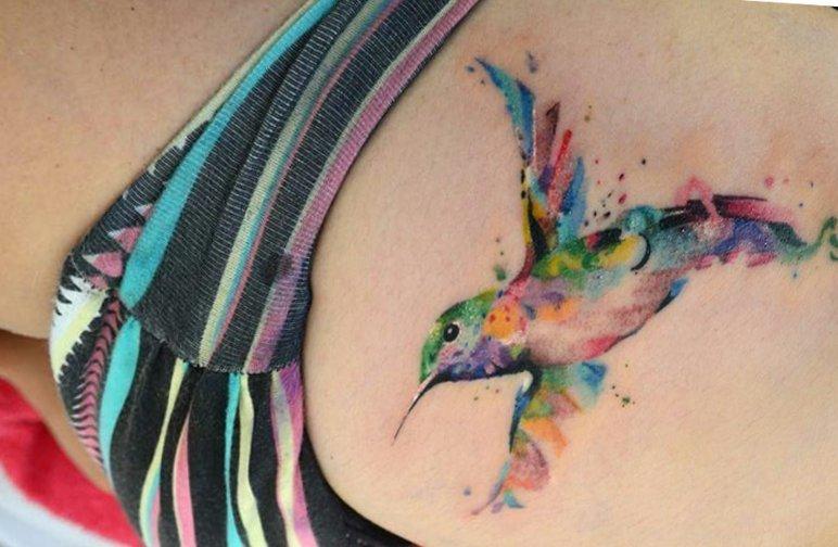 Kolibri Tattoo Motive und deren Bedeutung alletattoo.de 36