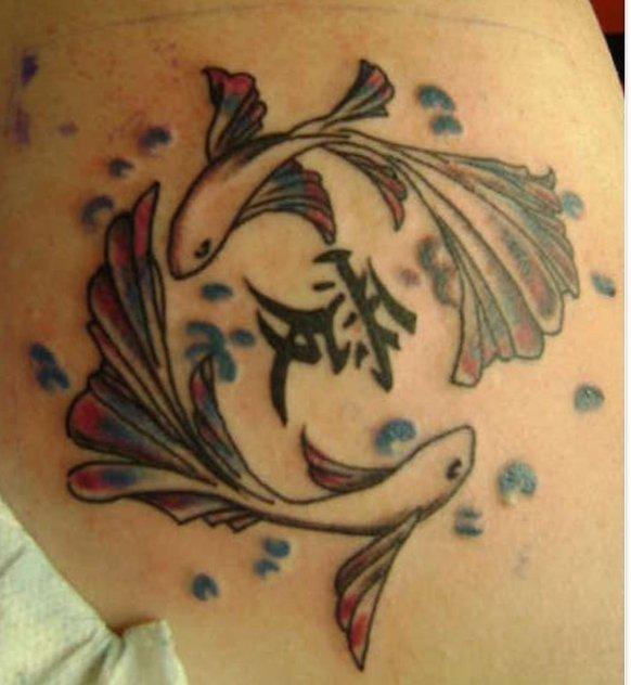 Fische Sternzeichen Tattoos alletattoo.de 15
