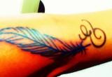 Feder tattoo unterarm 3