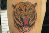 Gelbe Tiger Tattoo
