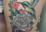 Hawaii blumen Kolibri und gardenie tattoo
