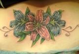 Hawaii blumen Schwertlilie tattoo