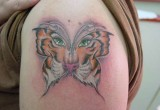 Schmetterling Tiger Tattoo