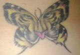 Schmetterling Tiger Tattoo 2