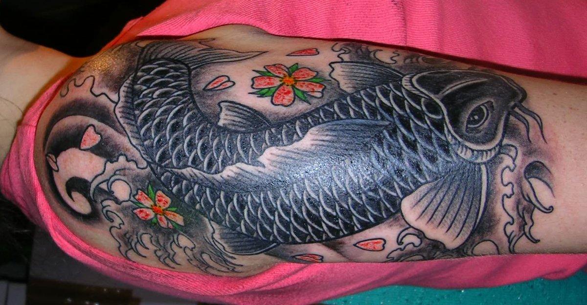 schwimmen nach tattoo