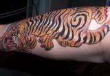 Tiger Tattoo fuer das Bein