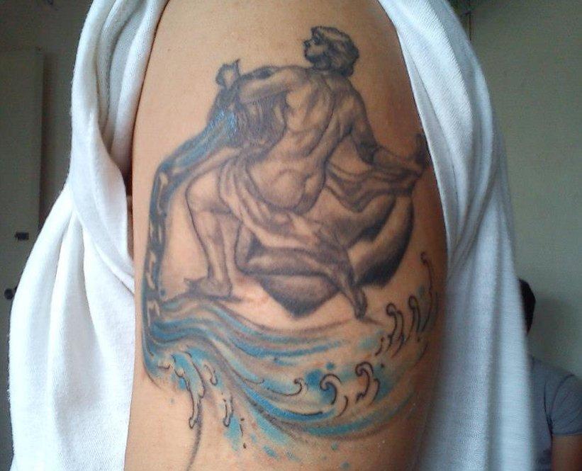 Wassermann Sternzeichen Tattoos alletattoo.de 18