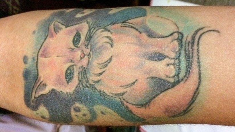 Bunte-Katze-Tatto-Ideen