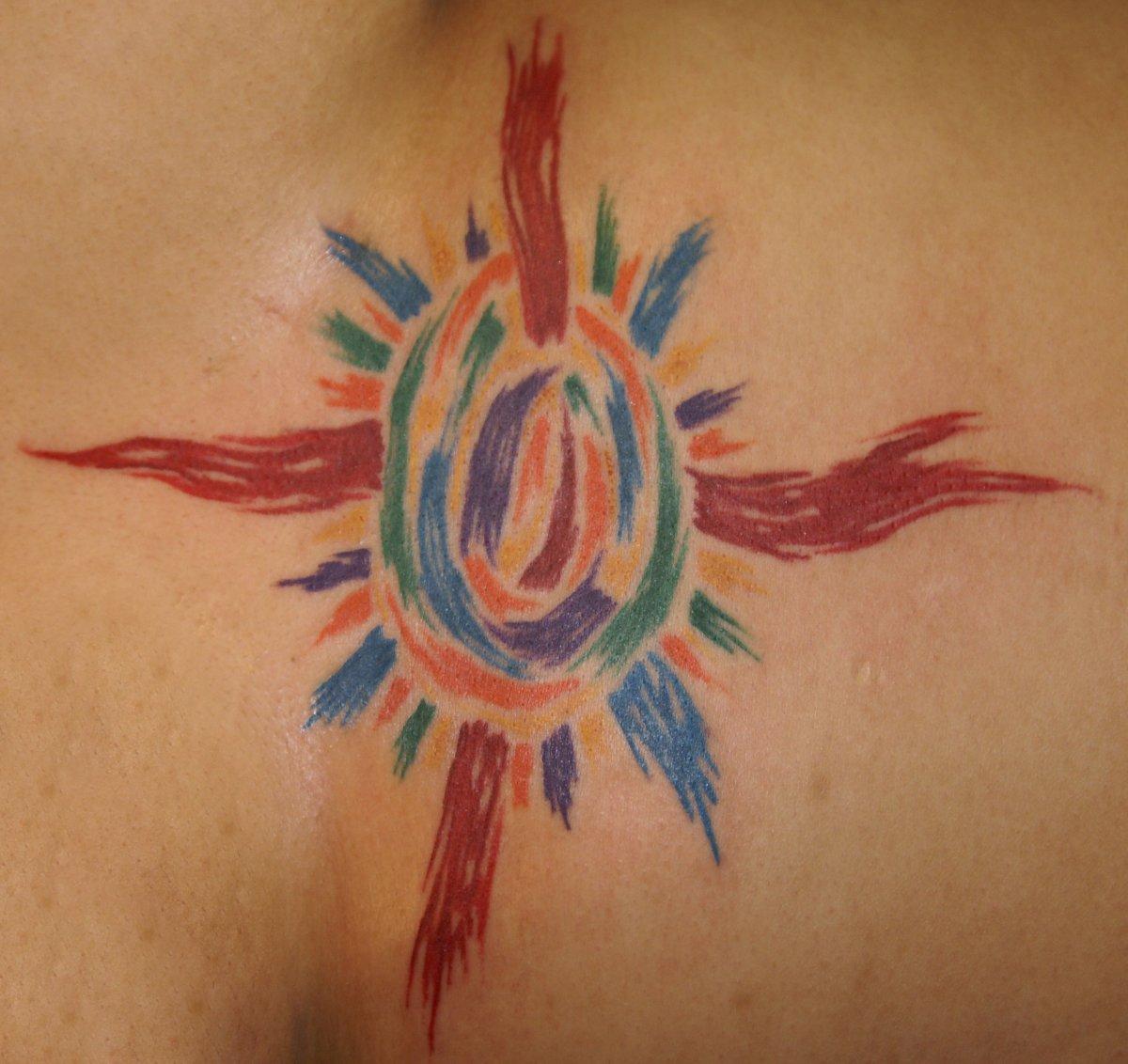Motive und Bedeutung der Sonnen Tattoos alletattoo.de 20