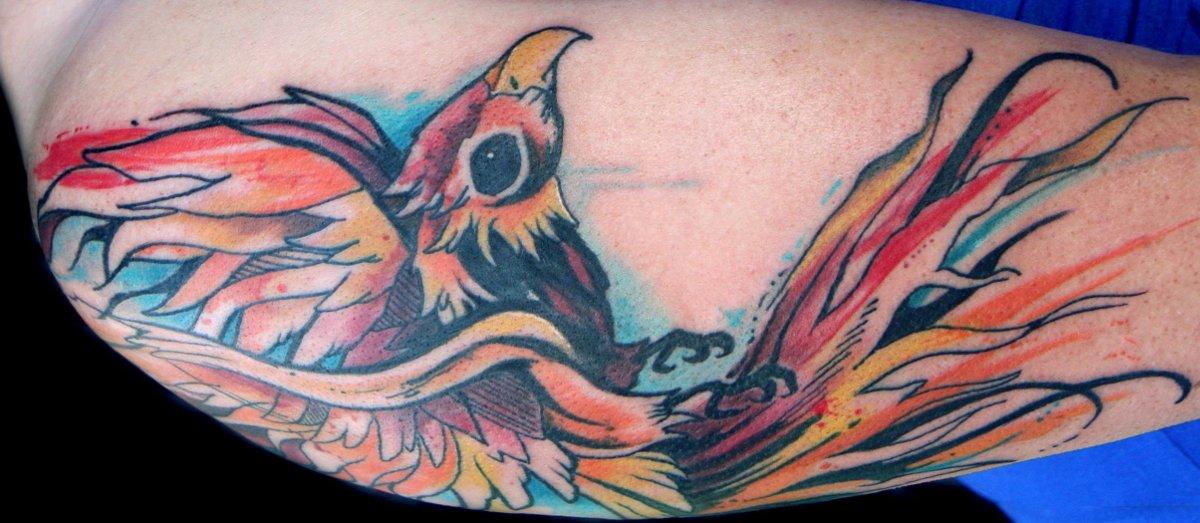 Phönix Tattoo und die Bedeutungen alletattoo.de 22
