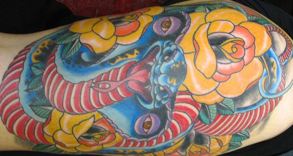 Schlangen Tattoo und die Bedeutungen alletattoo.de 16