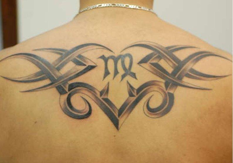Tribal-Jungfrau-Sternzeichen-Tattoo-fuer-Maenner