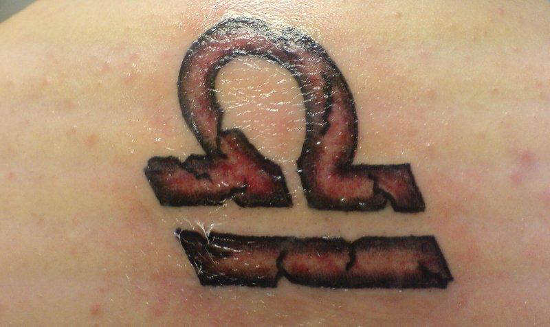 Waage Sternzeichen Tattoos